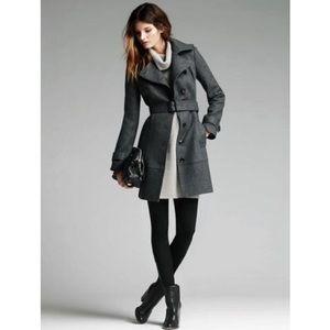 Charcoal Grey Banana Republic Wool Trench Coat